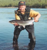 Первый пойманный лосось
