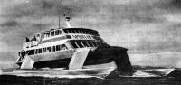 Первый «рассекающий волны» пассажирский катамаран «Спирит оф Виктори»
