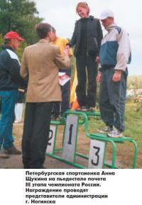 Петербургская спортсменка Анна Щукина на пьедестале почета