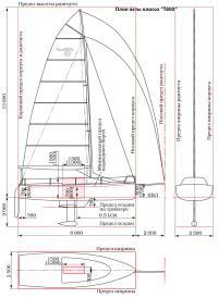 "План яхты класса ""Т800"""