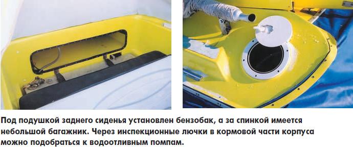 Под подушкой заднего сиденья установлен бензобак
