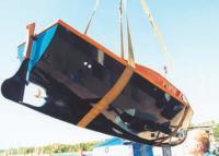 Подъем катера краном