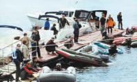 Подготовка лодок к старту