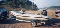 """Подвесной мотор """"Suzuki DF50"""" на надувной лодке"""