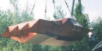 Погрузка катера краном