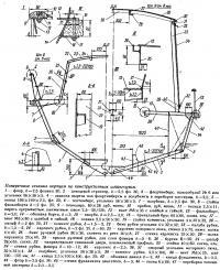 Поперечные сечения корпуса по конструктивным шпангоутам