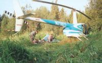 После посадки вертолета нужно разбить лагерь