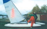 Последний штрих - установка паруса