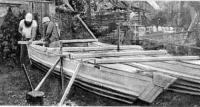 Постройка катамарана с корпусами из алюминиевого шифера