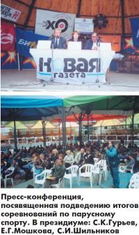Пресс-конференция по подведению итогов соревнований по парусному спорту
