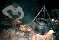 Приготовление ужина вечером
