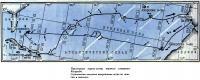 Примерная карта-схема первого плавания Колумба