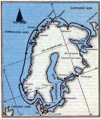 Примерная схема маршрута плавания мурманских яхтсменов на яхте «Вирма»