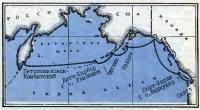 Примерная схема северной части Тихого океана