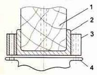 Примерная схема узла крепления съемного фальшкиля