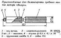 Приспособление для балансировки гребных винтов мотора «Вихрь»