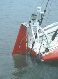 """Привод авторулевого на тримтэб пера руля океанской яхты """"Hunter's Child"""""""