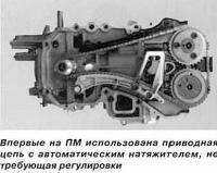 Приводная цепь с автоматическим натяжителем