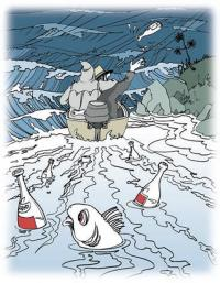 Пьянство на воде, выход в плохую погоду