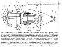 Расположение палубного оборудования на яхте «Конрад-25РТ»