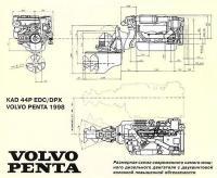 Размерная схема современного дизельного двигателя с двухвинтовой колонкой