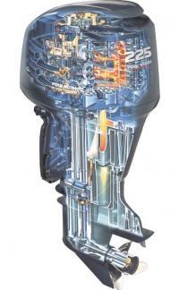 Разрез мотора «Yamaha» F225