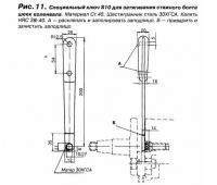 Рис. 11. Специальный ключ S10 для затягивания стяжного болта шеек коленвала