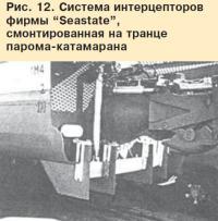"""Рис. 12. Система интерцепторов фирмы """"Seastate"""""""