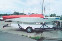 Рис. 12. Трейлер для перевозки яхты