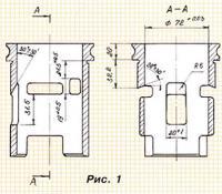 Рис. 1. Линейные и угловые размеры гильз