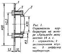 Рис. 1. Отражатель карбюратора на моторе «Архимед»
