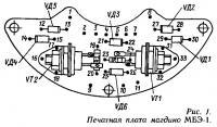 Рис. 1. Печатная плата магдино МБЭ-1