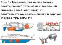 Рис. 1. Традиционная схема дизель-электрической установки