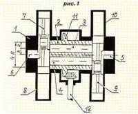 Рис. 1. Вариант конструкции двигателя по патенту РФ №2100616