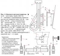 Рис. 2. Баллер и детали подвески