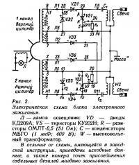 Рис. 2. Электрическая схема блока электронного зажигания