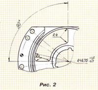 Рис. 2. Размеры впускных окон