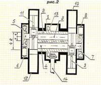 Рис. 2. Вариант конструкции двигателя по патенту РФ №2093684