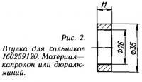 Рис. 2. Втулка для сальников 160259120