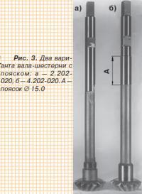 Рис. 3. Два варианта вала-шестерни с пояском