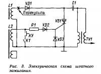 Рис. 3. Электрическая схема штатного зажигания