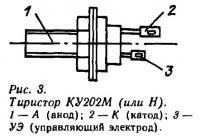 Рис. 3. Тиристор КУ202М (или Н)