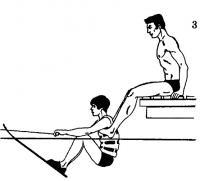 Рис. 3. Удерживание ногами