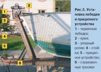 Рис. 3. Установка лебедки и прицепного устройства