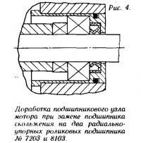 Рис. 4. Доработка подшипникового узла мотора