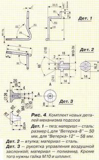 Рис. 4. Комплект новых деталей механизма подсоса