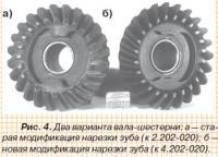 Рис. 4.Двава варианта вала-шестерни