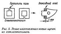 Рис. 5. Эскиз изготовления новых щечек из стеклотекстолита