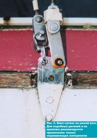 Рис. 5. Вант-путенс на малой яхте