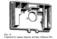 Рис. 6. Глушитель шума впуска мотора «Ямаха-25»